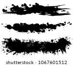 set of brush stroke... | Shutterstock .eps vector #1067601512
