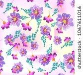watercolor natural seamless... | Shutterstock . vector #1067611016