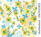 watercolor natural seamless... | Shutterstock . vector #1067611022