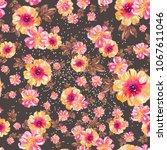 watercolor natural seamless... | Shutterstock . vector #1067611046