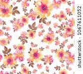 watercolor natural seamless... | Shutterstock . vector #1067611052