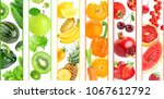 background of color fruits and... | Shutterstock . vector #1067612792