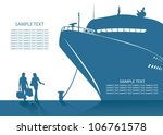 cruise ship background   vector ... | Shutterstock .eps vector #106761578