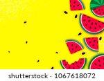watermelon super summer sale... | Shutterstock .eps vector #1067618072