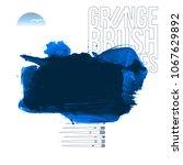 blue brush stroke and texture.... | Shutterstock .eps vector #1067629892