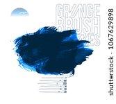 blue brush stroke and texture.... | Shutterstock .eps vector #1067629898