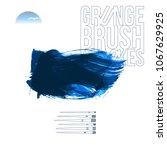blue brush stroke and texture.... | Shutterstock .eps vector #1067629925
