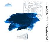 blue brush stroke and texture.... | Shutterstock .eps vector #1067629958