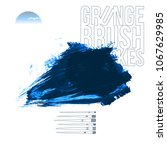 blue brush stroke and texture....   Shutterstock .eps vector #1067629985