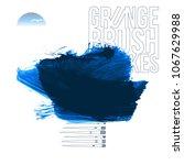 blue brush stroke and texture.... | Shutterstock .eps vector #1067629988