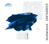 blue brush stroke and texture.... | Shutterstock .eps vector #1067630015