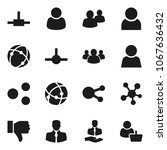 flat vector icon set   client... | Shutterstock .eps vector #1067636432