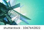 polygonal aquamarine background.... | Shutterstock . vector #1067642822