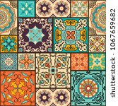 seamless colorful patchwork... | Shutterstock .eps vector #1067659682
