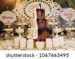 beautiful wedding cake | Shutterstock . vector #1067663495