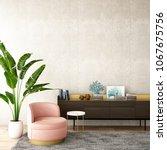 interior design for living area ... | Shutterstock . vector #1067675756
