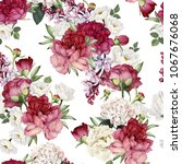 seamless floral pattern with... | Shutterstock .eps vector #1067676068