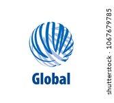 vector logo globe | Shutterstock .eps vector #1067679785