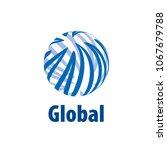 vector logo globe | Shutterstock .eps vector #1067679788