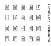 document and notebook outline... | Shutterstock .eps vector #1067681045