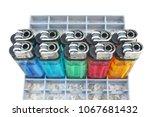 multicolored of plastic gas... | Shutterstock . vector #1067681432