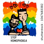 stop homophobia  a print with... | Shutterstock .eps vector #1067683382