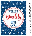 illustation for the father's... | Shutterstock .eps vector #1067690528