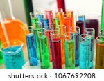 Many Test Tubes With Colorful...