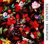 seamless vintage background... | Shutterstock .eps vector #1067693372