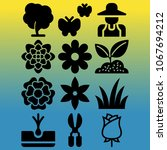 vector icon set about gardening ... | Shutterstock .eps vector #1067694212