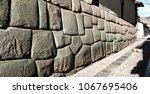 hatun rumiyoc street with incan ... | Shutterstock . vector #1067695406