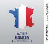bastille day formal map flag | Shutterstock .eps vector #1067698586