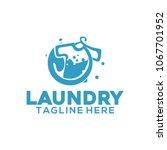 laundry logo design | Shutterstock .eps vector #1067701952