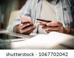 senior business man checking... | Shutterstock . vector #1067702042