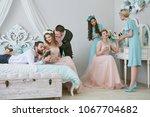 lesbian wedding. two brides in...   Shutterstock . vector #1067704682