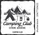 camping club badge. vector... | Shutterstock .eps vector #1067710622