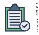 clipboard tick check  | Shutterstock .eps vector #1067714312