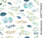 seamless pattern with... | Shutterstock . vector #1067724422