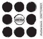set of grunge circles.grunge... | Shutterstock .eps vector #1067724815