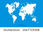 color world map vector | Shutterstock .eps vector #1067725508