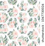 hexagons. flower pattern.   Shutterstock .eps vector #1067730026