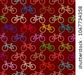 seamless pattern with transport ... | Shutterstock .eps vector #1067734358