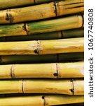 Sugarcane Sticks Arranged In An ...