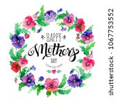 happy mother's day greeting... | Shutterstock . vector #1067753552