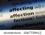 affection word in a dictionary. ... | Shutterstock . vector #1067758412