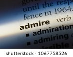 admire word in a dictionary.... | Shutterstock . vector #1067758526
