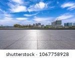 empty marble floor with... | Shutterstock . vector #1067758928