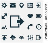 user icons set with call  heart ...