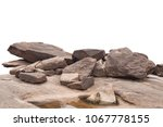 Rock isolated on white...