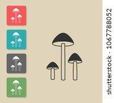 mushroom   vector icon. symbol... | Shutterstock .eps vector #1067788052